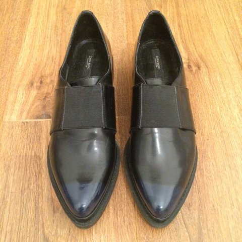 6691f03495e Zara collection loafer style shoes. Black leather