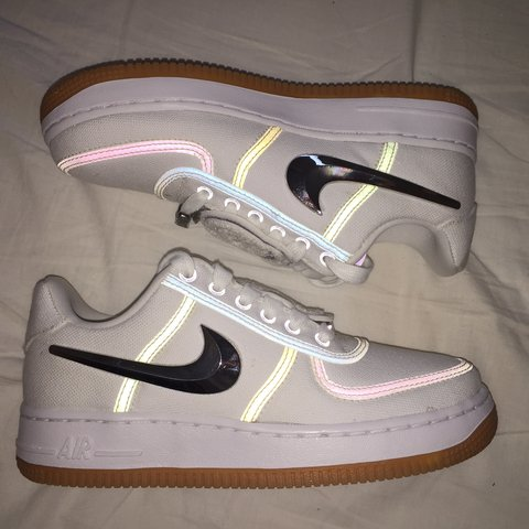 e477db137172 TRAVIS SCOTT x NIKE AIR FORCE 1 SIZE 5 US   4.5 UK   NEW for - Depop