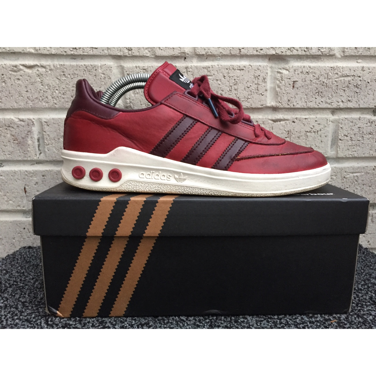 meet e522f a1827 Adidas Originals x Barbour 'Columbia' chilli red.... - Depop