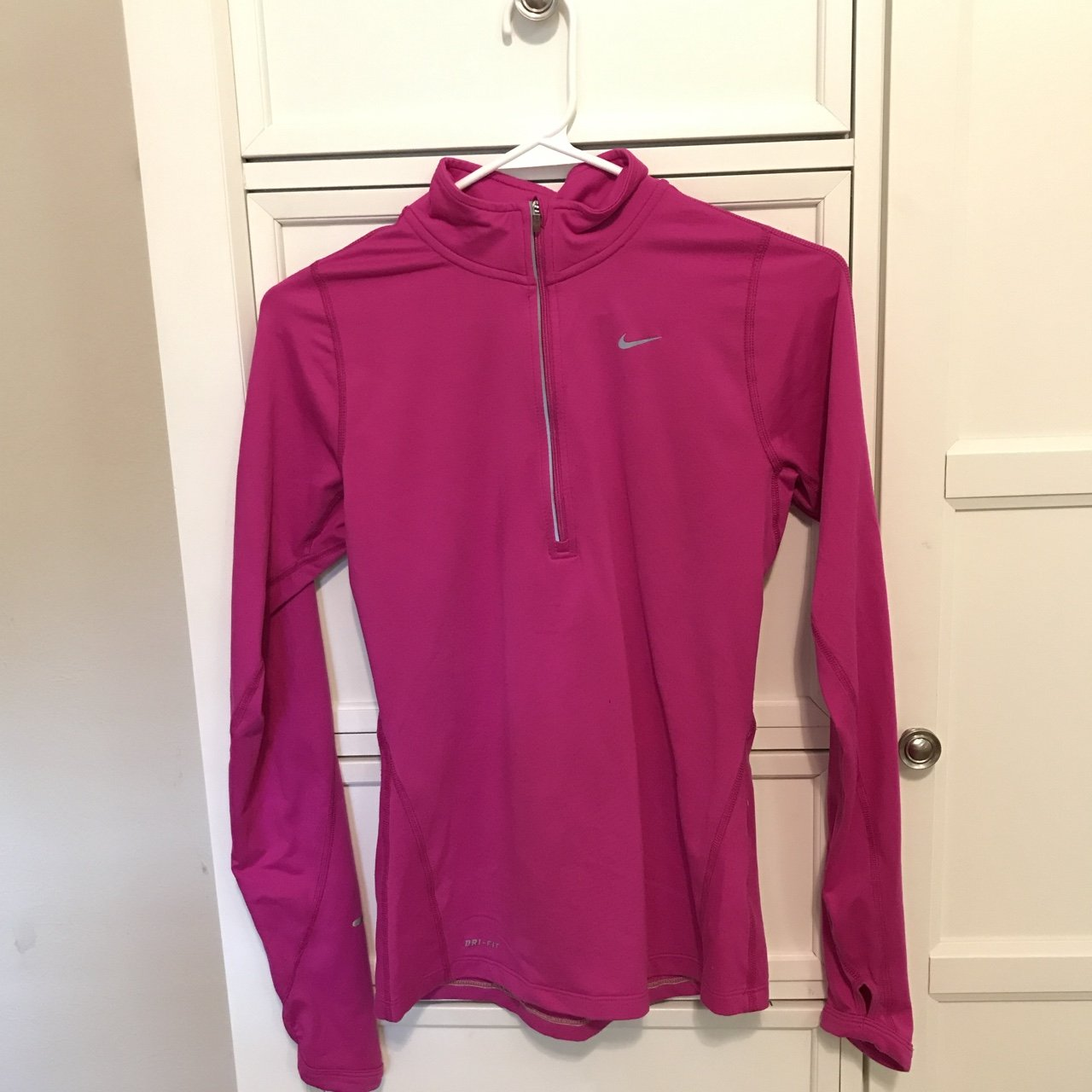 87736a76b9af Hot pink lightweight dry fit running jacket by Nike worn Lil - Depop