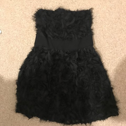 87e5384c4c5 Sandro black feathered roses tube dress - only worn once