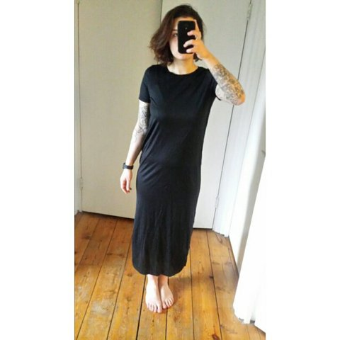 9ae0d3c6979 Cos black maxi dress. Side slits pic n.2. Size S.  black - Depop