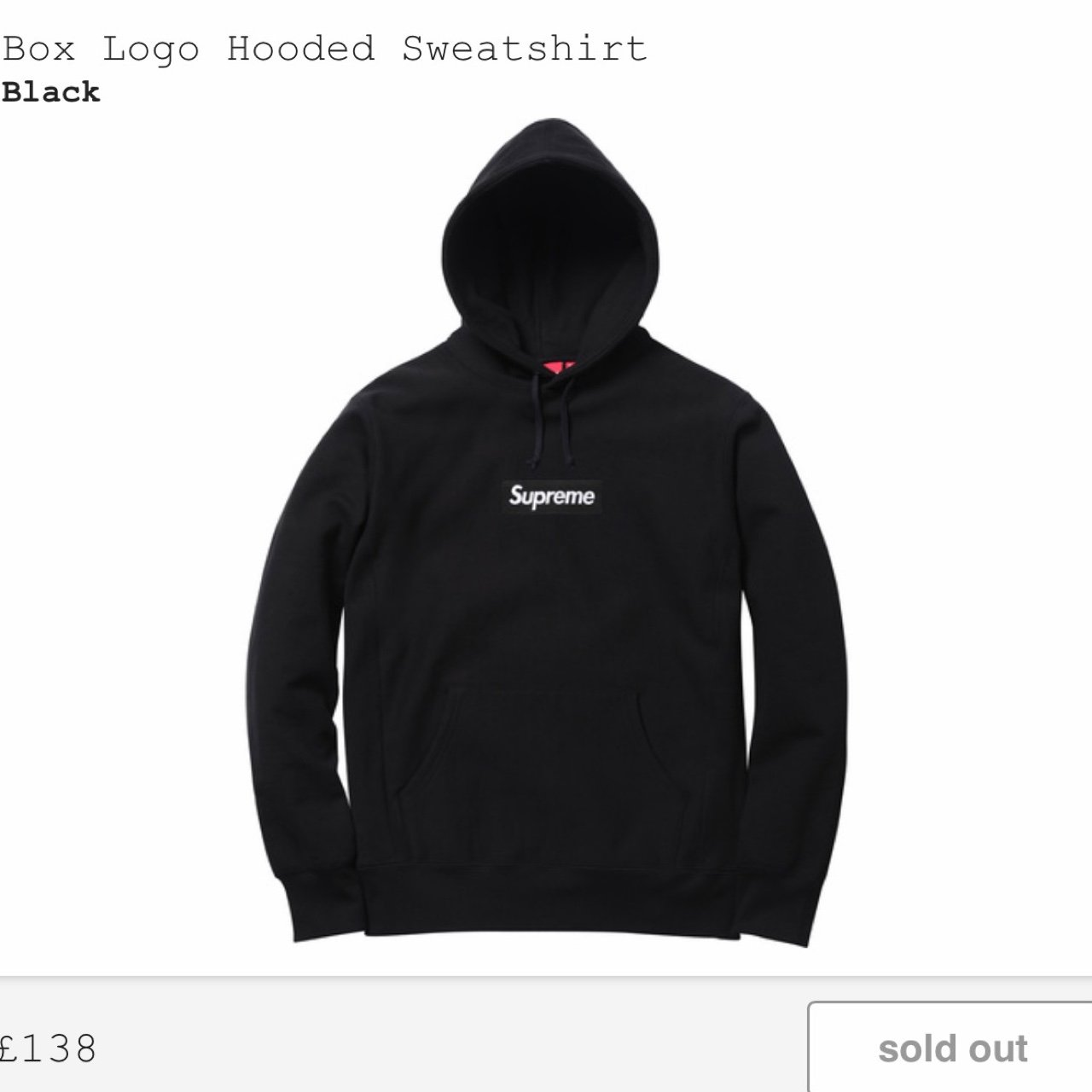 SELLING 2016 Supreme Box Logo Hoodie in black f080f239b681
