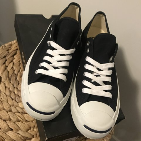 bb102838c24f Converse Jack Purcell shoes. Black canvas. New with box- - Depop