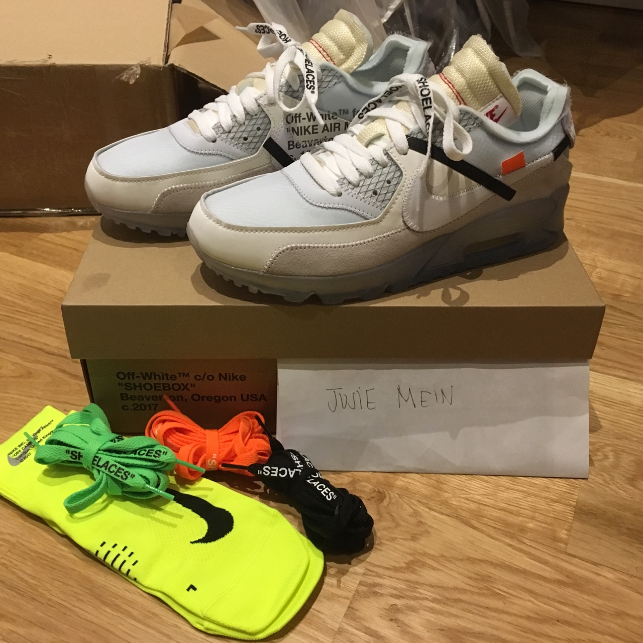 Off White Virgil Abloh X Nike air max 90 uk size 6 Depop