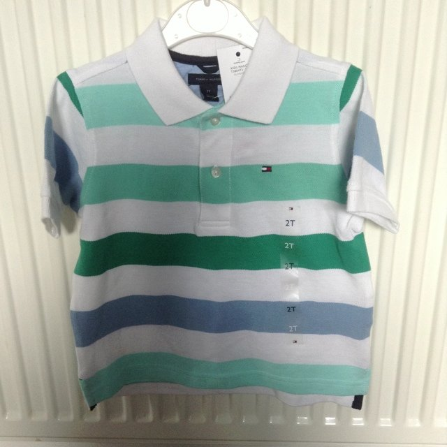 f3e4bc2a @lingling24. 5 years ago. Manchester, UK. BNWT Tommy Hilfiger Stripy polo. Age  2T.