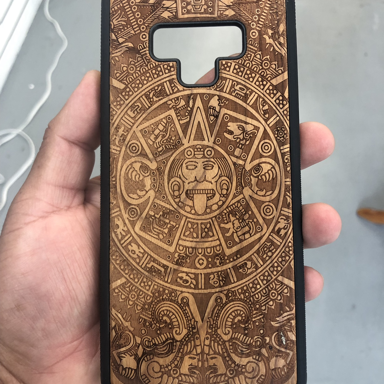 New Wooden Aztec Calendar Case For Note 9 Aztec Depop