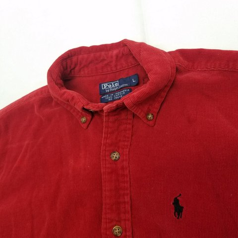 44295c95e Polo by Ralph Lauren corduroy button up shirt in great are a - Depop