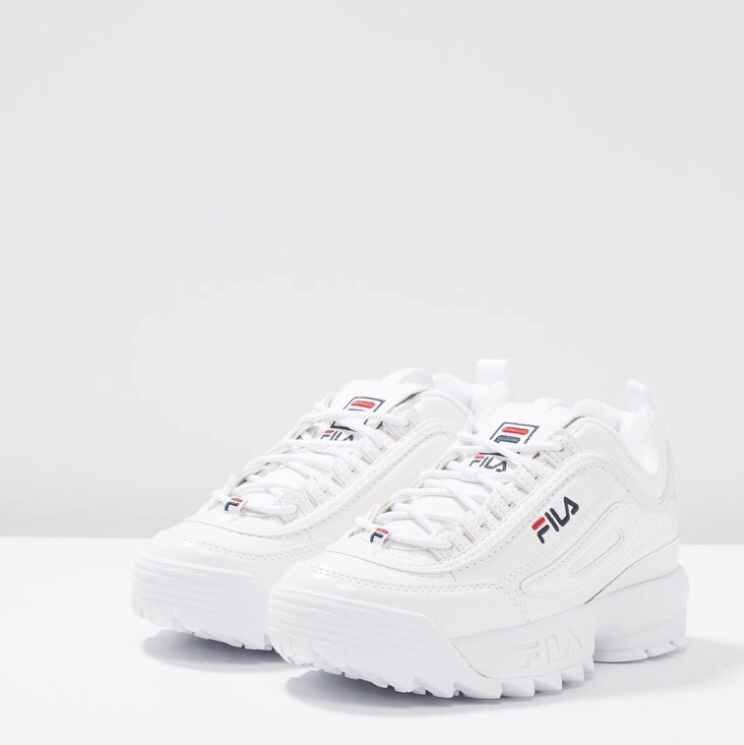 Fila Disruptor bianche lucide, nuove intonse con... - Depop