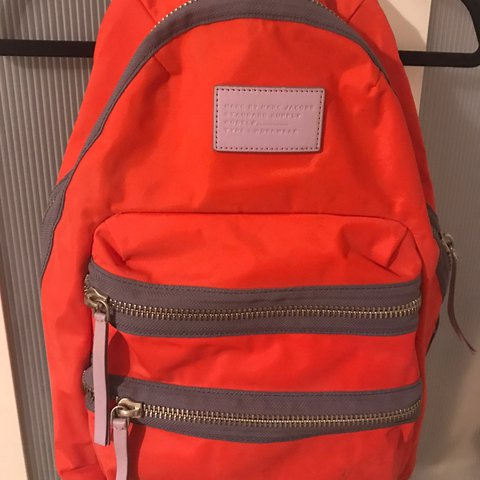 Marc by Marc Jacobs backpack. Orange with maybe leather - Depop e16041b8a2b80