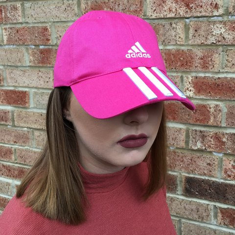 a3229c36e0e4d Hot pink adidas cap ➖ Brand new with tags ➖ Size m but fits - Depop