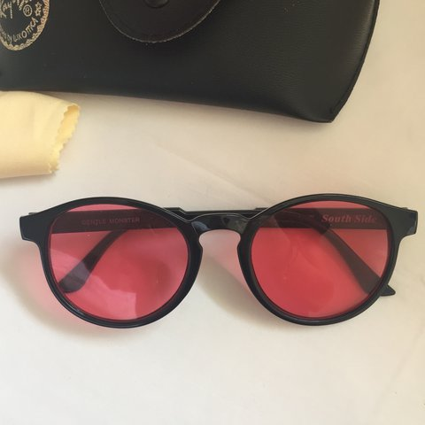 c7f58985c9 pink rose tinted sunglasses glasses comes with case   ignore - Depop