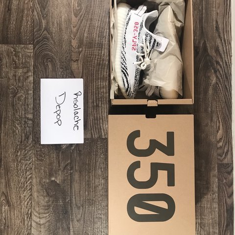 "44851bfb366 Adidas Yeezy Boost 350 V2 ""Zebra"" US size 9.5 Purchased in - Depop"