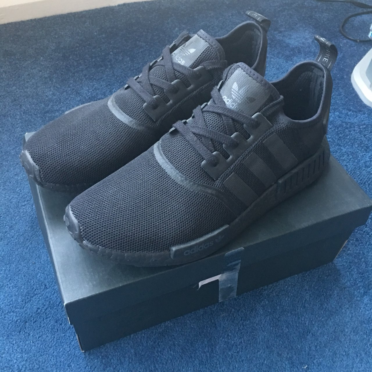 2a8f6294a423 Adidas NMD R1 triple black 2017 release Worn but good to - Depop