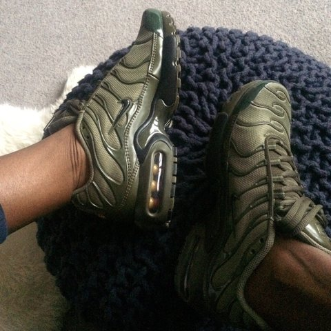 sports shoes 9c1bf c0a12  slimcook83. 9 months ago. London, United Kingdom. Khaki olive green Nike  Air max plus TN trainers. Tuned TNs 95s