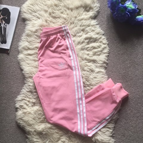 ceec95ea @slimcook83. 3 days ago. London, United Kingdom. BRAND NEW Baby pink white  stripes Adidas track pants