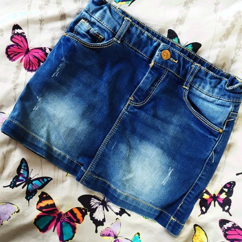 ae7cd8d004 @deesell. 3 years ago. Chiddingfold, United Kingdom. Denim Mini Skirt from  Zara Kids.