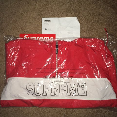 c204f35010bf Supreme nylon half zip. Open to trades and offers. Don't hit - Depop