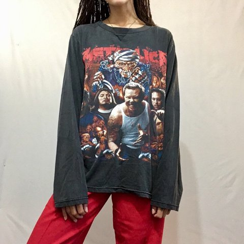 37e774d17beb60 Metallica graphic long sleeve top. No size indicated.  top - Depop