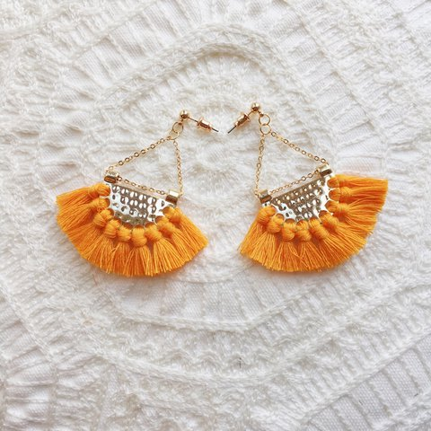 97d1b18bb The ZOYA - Orange tassel earrings 😍 | FREE UK P&P | 1-3 day - Depop