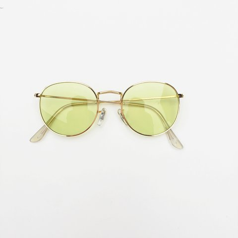 e0ef35a68c 👌🏻Cool Gold   khaki coloured lens clear glasses tinge tint - Depop