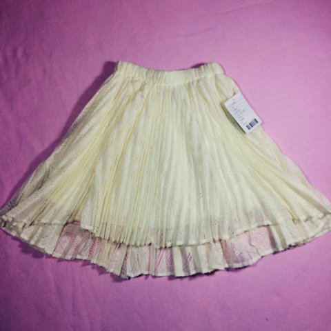 Urban Outfitters Pins And Needles Size Medium Mini Skirt Cream White Lace Lined Clothing, Shoes & Accessories