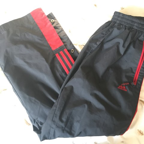 d8bffd0b0544 vintage adidas tear away pants ! red and navy blue
