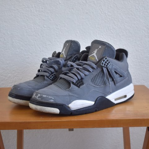 7c56da590ba9 2004 Jordan Cool Grey 4s. Size 11.5. Uppers feature grey a a - Depop