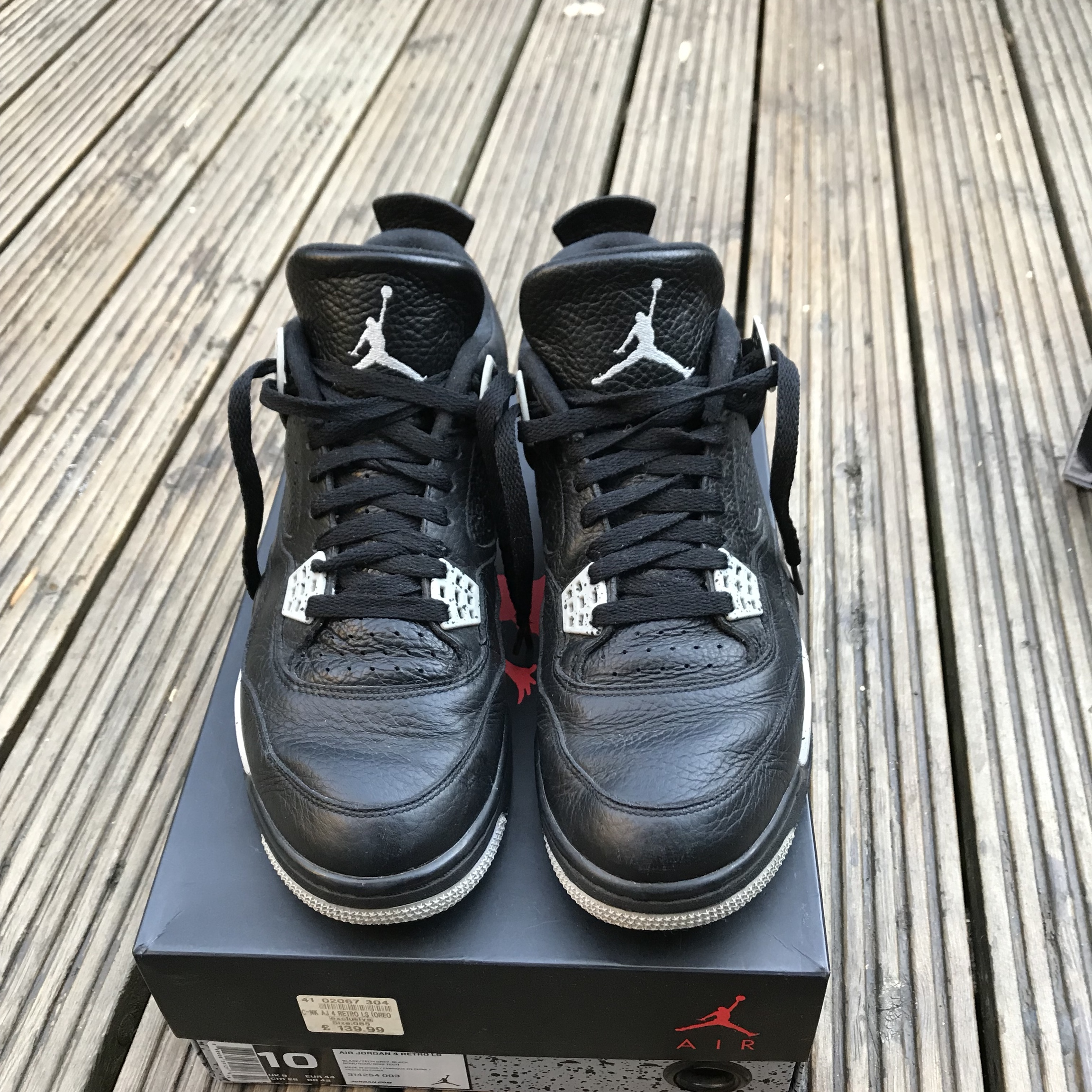 size 40 3ee6f 39c38 *PRICE DROP* Nike Jordan 4 Oreo. 8.5/10 as you can ...
