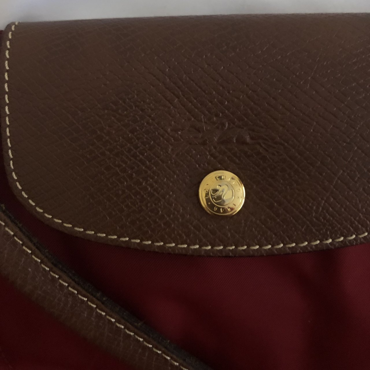 Red longchamp le pliage bag. Used 3748ff0da076e