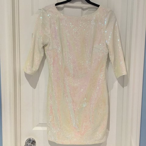 6350107c @laurel_freed. last year. Toronto, Canada. White sequin dress. Perfect for  a new years party! Purchased from TOBI. Size Medium. Worn once ...