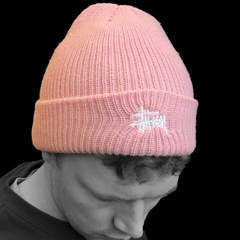 ec2349dfce5195 Stussy Pink Basic Cuff Brand New With Labels - #beanie #pink - Depop