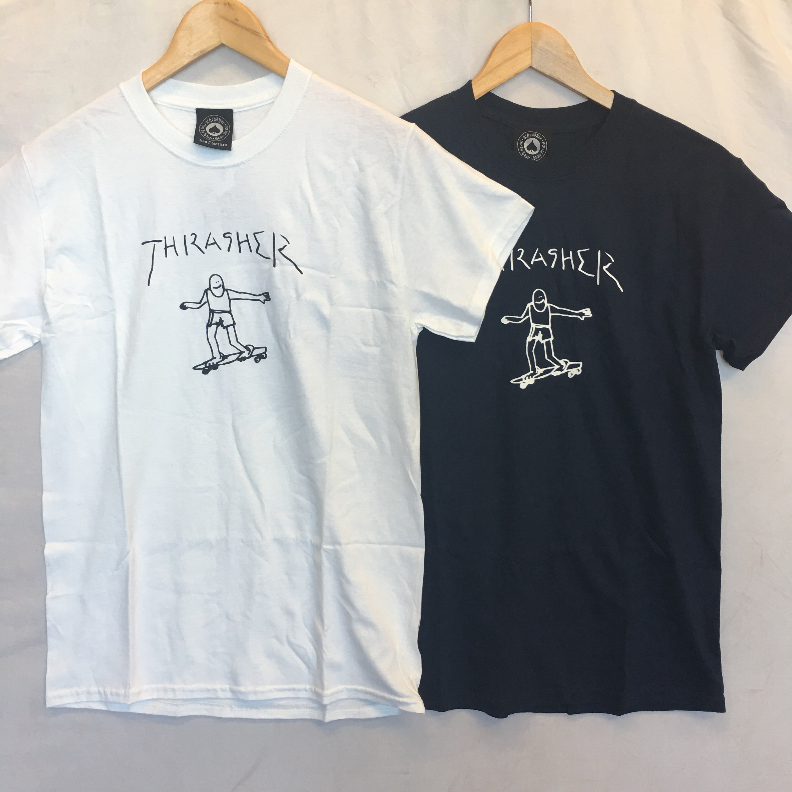 995f1c62 Thrasher Gonz Tee Double Pack. One navy tee and one white. - Depop