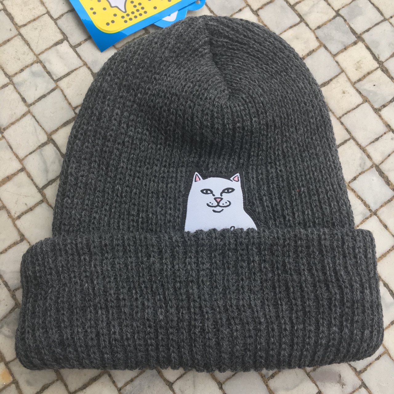 24b2d31c6fcd9 RIPNDIP Dark Grey Lord Nermal Beanie Hat. Brand New With Two - Depop