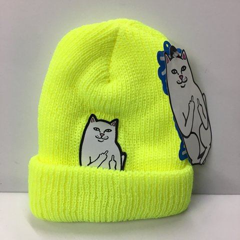 872fe4a08ff33 RIPNDIP Lord Nermal Beanie. Brand new with tags.  rip - Depop