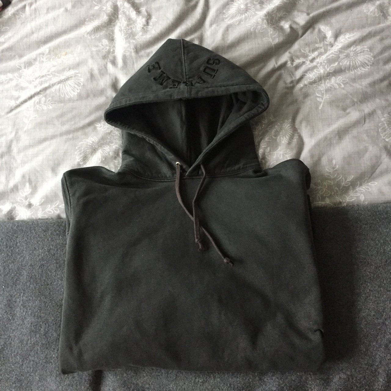 91e4c05d036c Supreme Overdyed hoodie in black SIZE L. 10 10 condition. PM - Depop