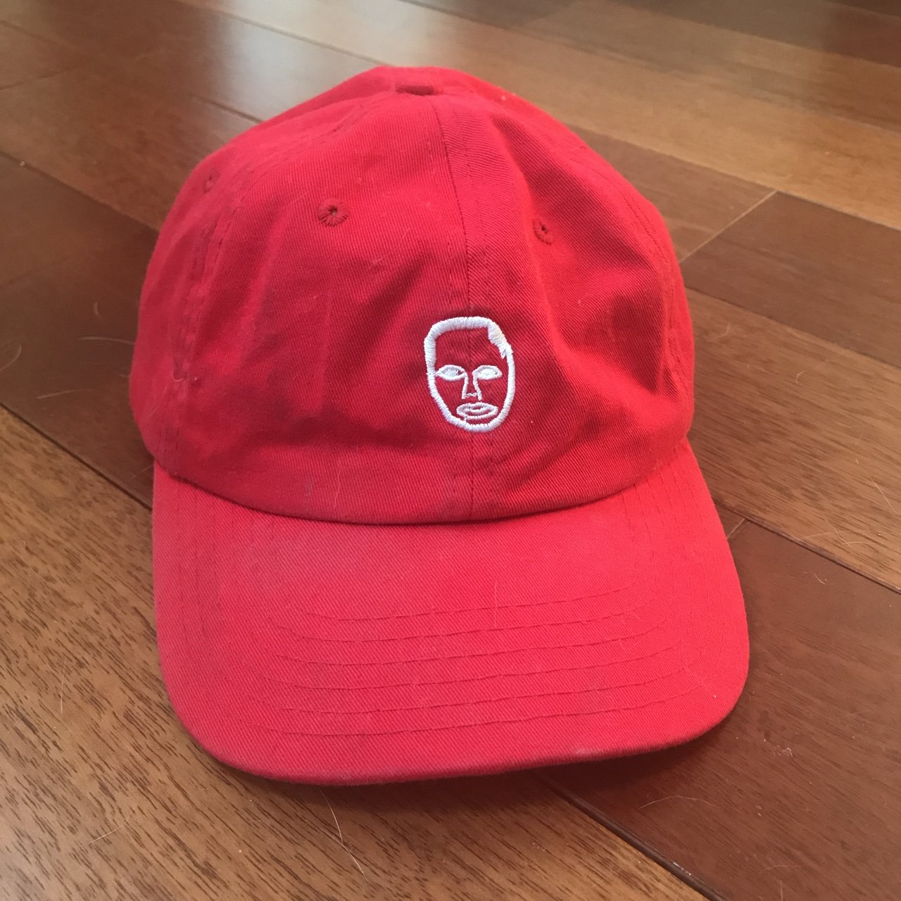 Bright Red Earl Sweatshirt Dad hat! Worn once and I will it - Depop 0b8739617e1