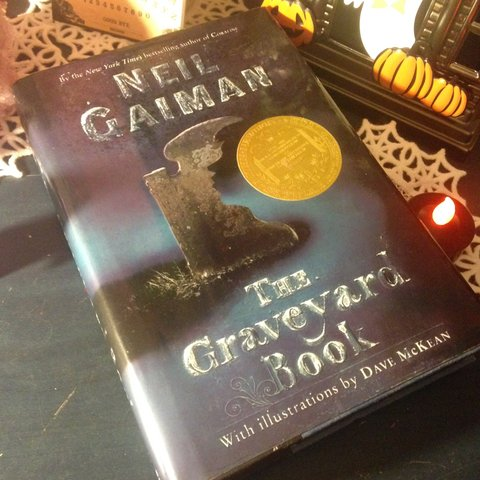 Image result for 	The Graveyard Book  by Neil Gaiman