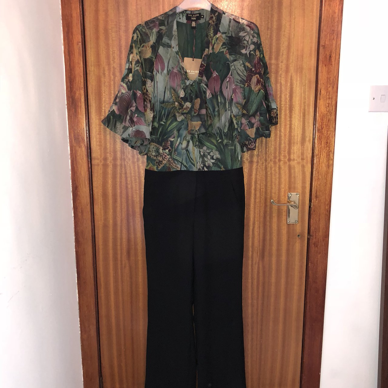 0ad13782728 New ted baker jumpsuit never worn. Size 0 would fit a size - Depop
