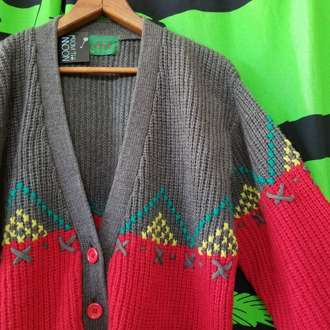 e8ce3f4429 Vintage knit cardigan with