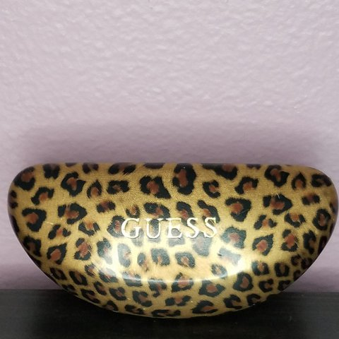 84c7f561ccabc Guess brand leopard print glasses case . This case has a few - Depop