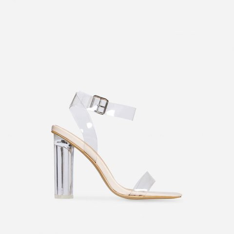 53fb0cdff45e Brand New Ego Shoes Ariana Strappy Nude Perspex Sandals Size - Depop