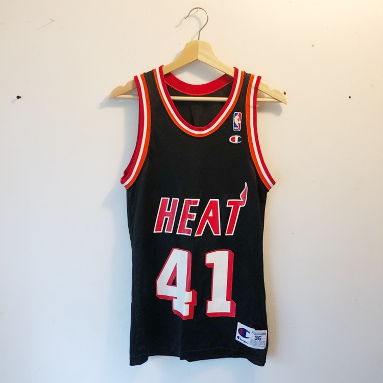cheap for discount 7b3ff aa083 Vintage Miami Heat glen rice Champion Jersey, men's... - Depop