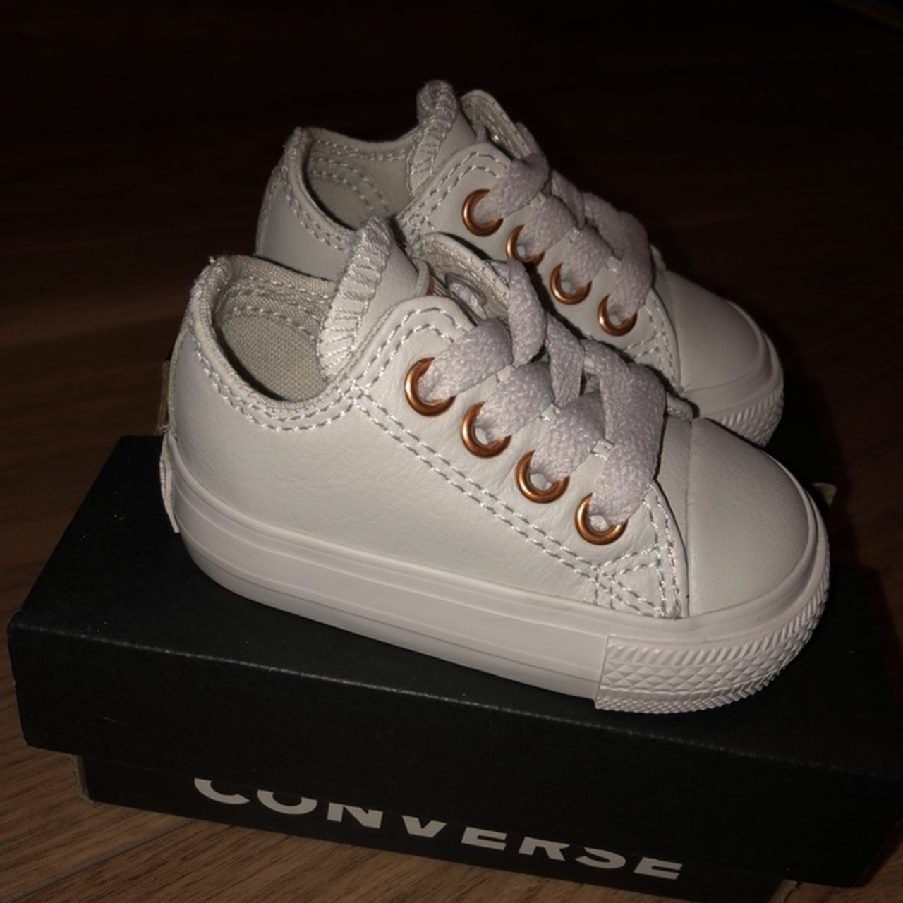 3fe619518ce110 Converse baby shoe. Size 2. Grey Leather with rubber sole