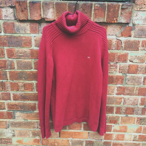 b1fe2f0d6 Dark red Polo Jeans Turtle Neck Sweater. Large. 10 10 Never - Depop