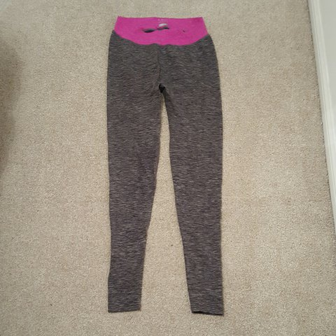 40643241e7a03 Marks and Spencers M&S grey and pink fitness workout yoga - Depop