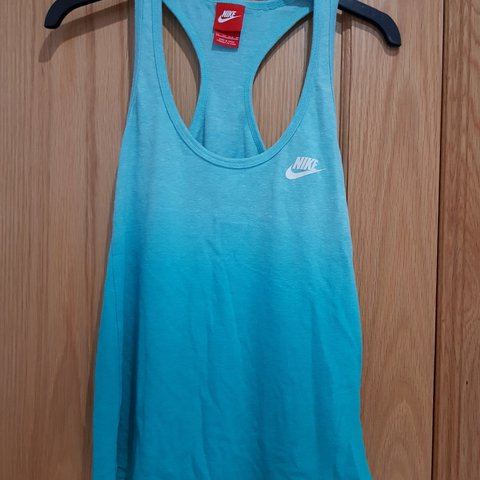 1b38c55b35ab00 Nike blue faded vest top. Very comfy and loose fitting. Only - Depop