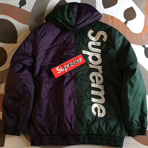 a0b84463d290 Supreme 2-Tone Hooded Sideline Jacket