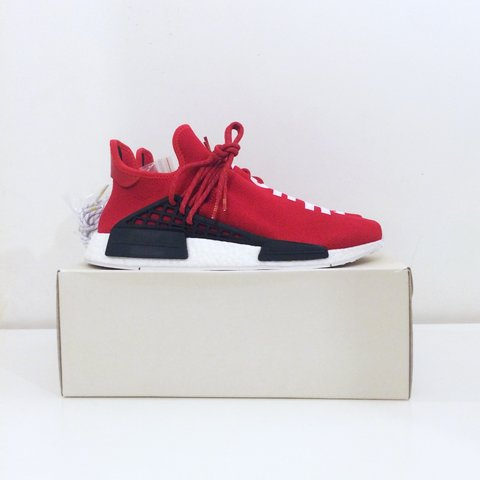 94acf4cd3 ... Adidas NMD x Pharrell Williams HU Human Race Scarlet Red - Depop ...
