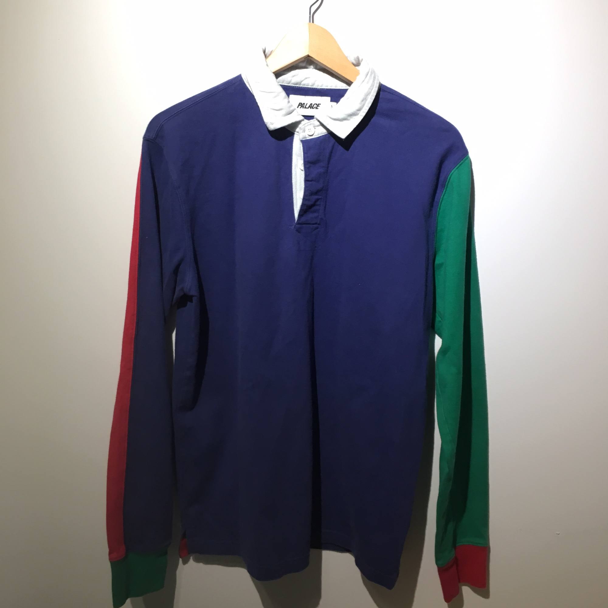 Blue Green Red Palace Rugby Polo Shirt Medium No Flaws Depop